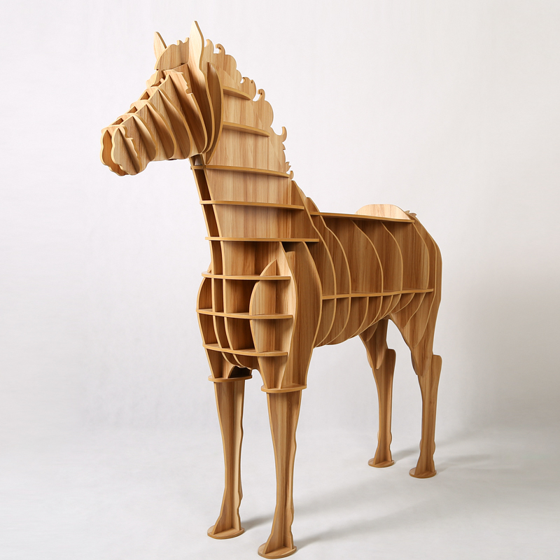 1 set creative table basse wooden big horse wood craft for art home office theme restaurant. Black Bedroom Furniture Sets. Home Design Ideas