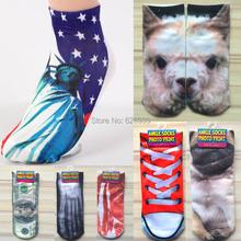 2015 New 3D Print Women Mens Weed Socks Harajuku Street Dance Hip Hop Meias Masculinas Ankle Sock Street Marijuana Style WZ009