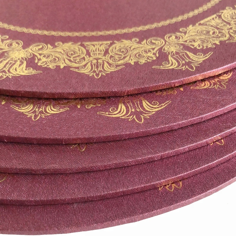 Круглая розовая основа для торта толщиной 3 мм