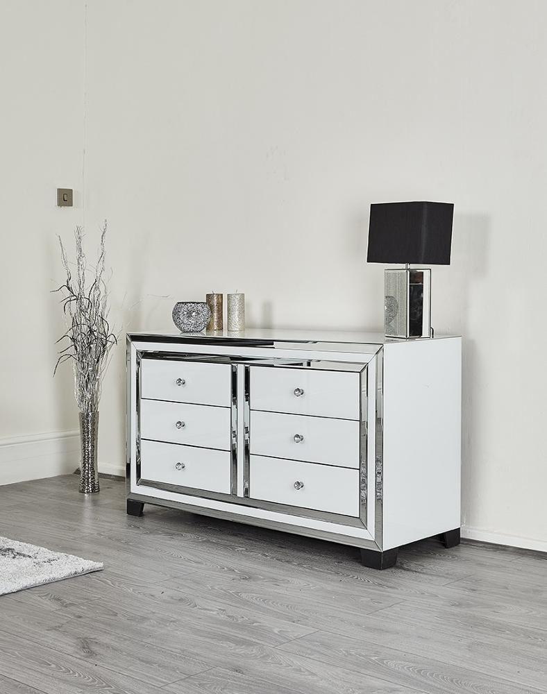 6 Drawer Width White Glass Mirrored Chest Dresser Table Bedroom Furniture View 6 Drawer White Glass Drawer Chest Mr Product Details From Shenzhen Mr Furniture Decor Co Limited On Alibaba Com