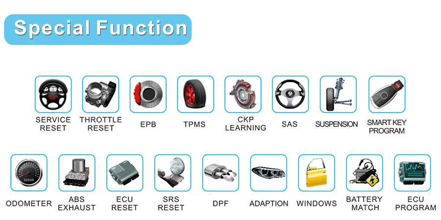 FCAR F7-G diagnostic scan tool for 12V cars and 24V diesel vehicles bus truck machinery heavy-duty TPMS ECU information