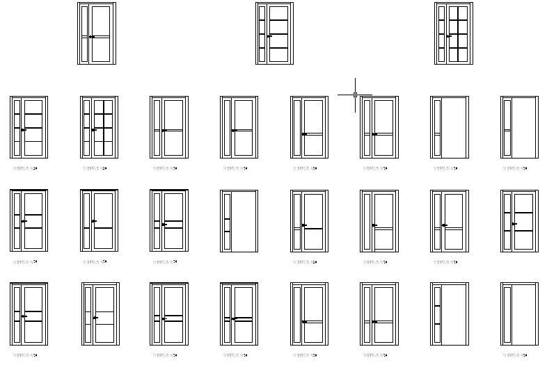 High Quality Aluminum Alloy Double Swing Casement Door