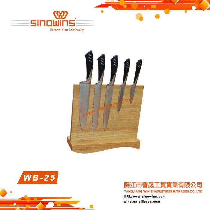 WB-25 Display Wooden Knife Block Magnetic Knife Block