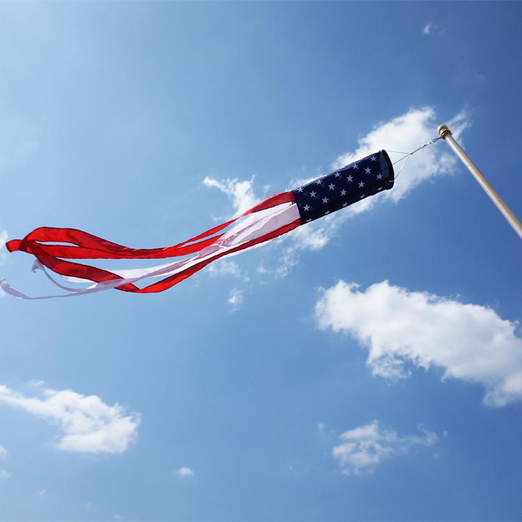 Американский флаг ветроуказатель