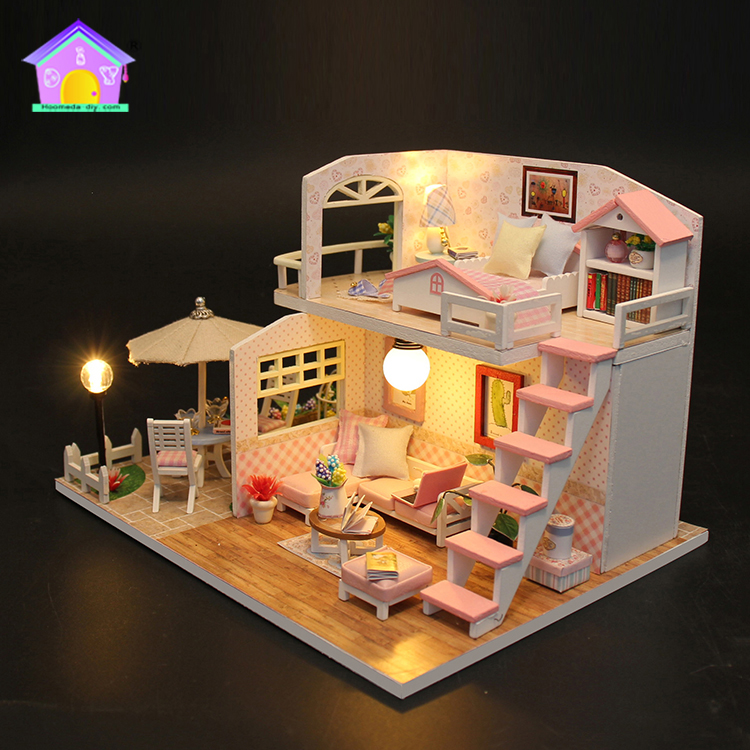 Gifts for birthday teen girl happy family doll house furniture miniature houses for sale
