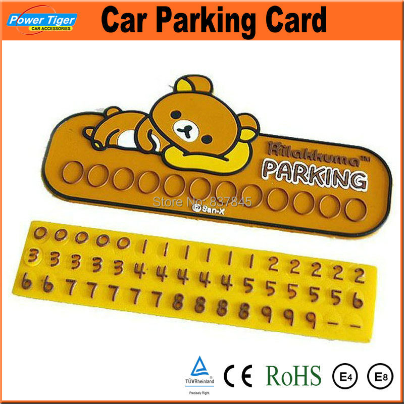 buy car temporary parking card silicone number plates diy shift message phone. Black Bedroom Furniture Sets. Home Design Ideas