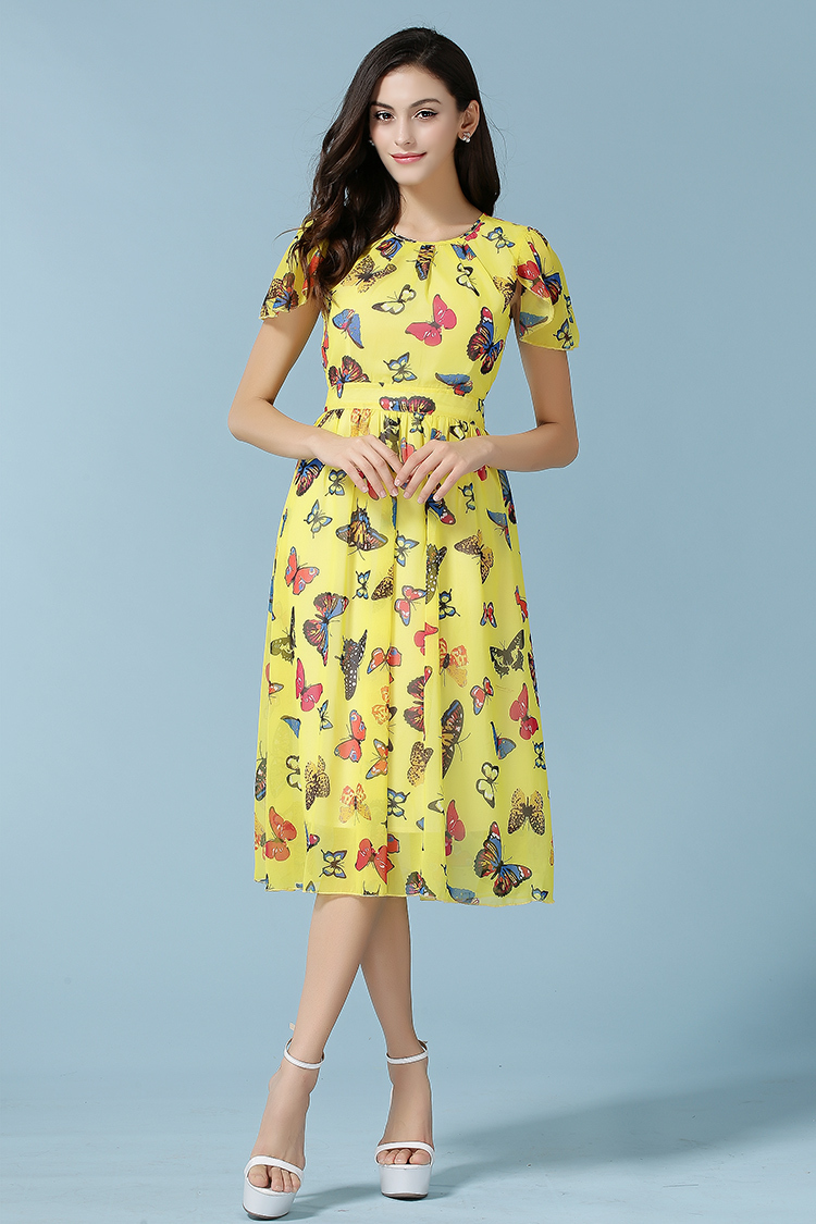 womens summer dresses 2015 summer maxi dress long yellow ...