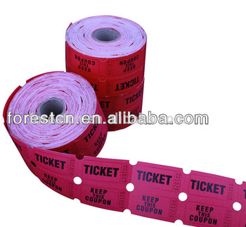 paper ticket rolls raffle ticket for party admission ticket rolls