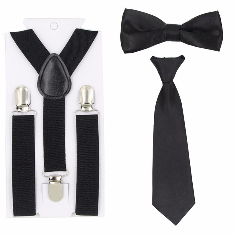 Детские подтяжки, галстуки-бабочки, набор эластичных подтяжек для мальчиков и девочек