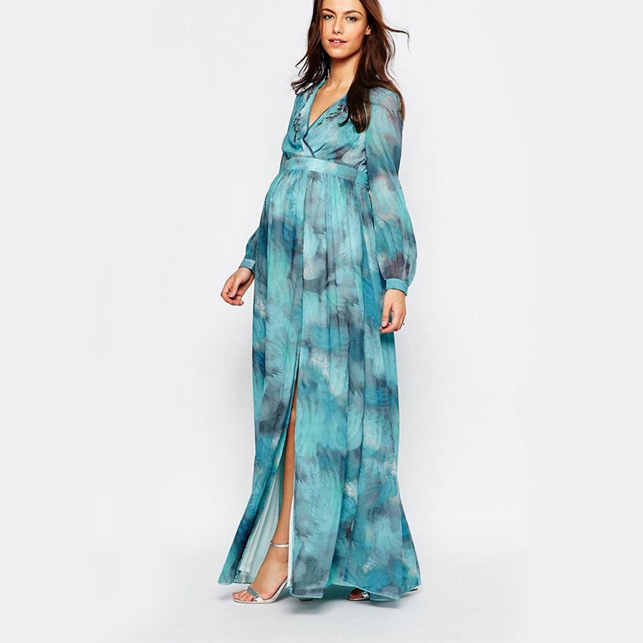 Long Sleeve Maternity Dress Fashion Dresses