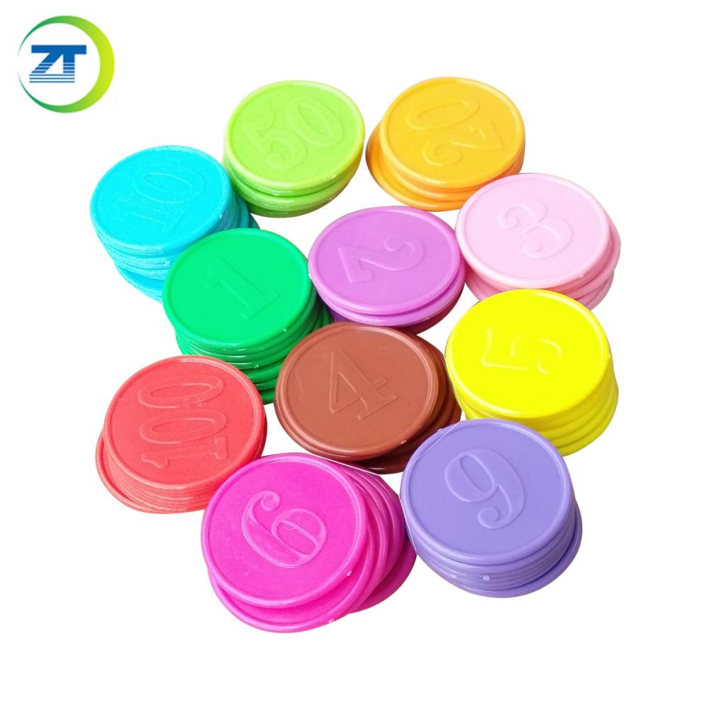 Рекламные тисненые пластиковые жетоны, Детский обучающий номер, Пластиковый Жетон
