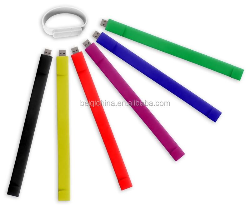 Silicone bracelet USB flash drive slap USB bracelet - USBSKY   USBSKY.NET
