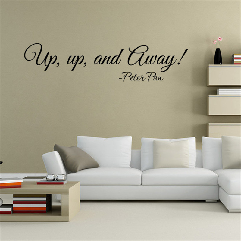 Inspiration Letter Up up and Away Art Wall Sticker Home Decor Living Room Bedroom Decals Hot Sale