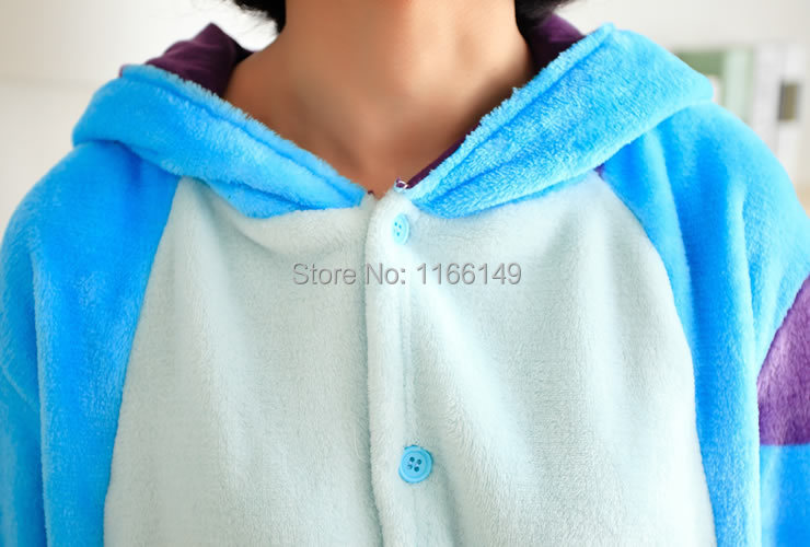 e85c2fb6d9 2019 Wholesale Monster Sulley Sullivan Adult Onesies Pyjamas Cartoon Animal  Costume Pajamas Unisex Pijamas