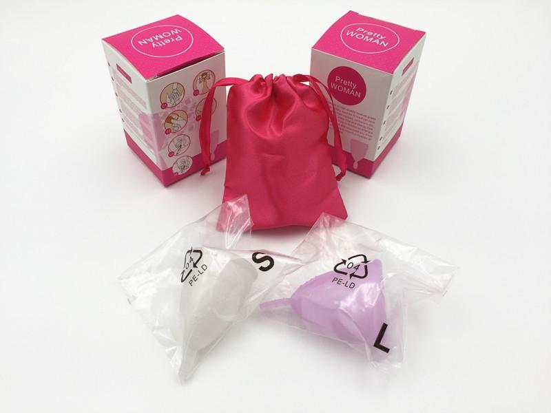 Оптовая продажа, Женская менструальная чаша без бисфенола А, многоразовая менструальная чаша из медицинского силикона