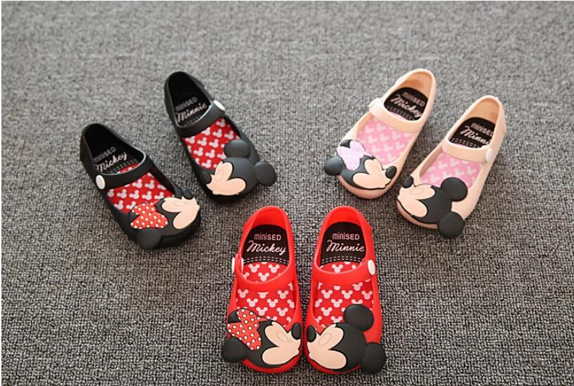 Fashion Minnie Cute Cartoon Baby Jelly Shoes Toddler Girls Princess Soft Sole Sandals Shoes
