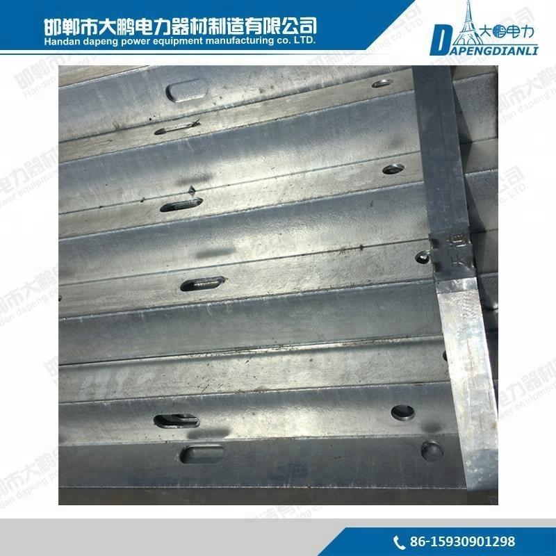 High quality galvanized steel 11kv 33kv crossarm / angle steel / line cross arm for pole line fitting
