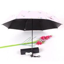 Складной зонт с зарядным зонтом 2000 мАч для отправки вентилятора ребристый Оптимизированный дизайн-Ветрозащитный прочный и прочный W30704(Китай)