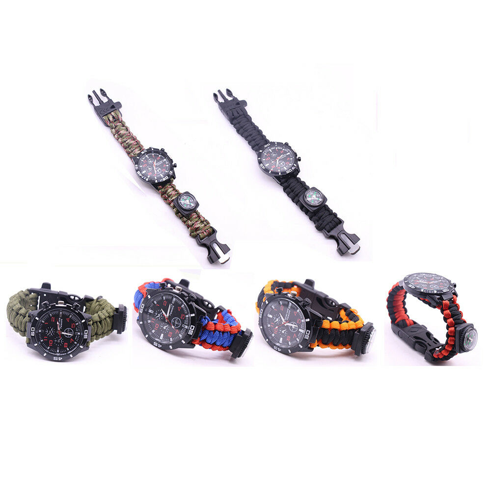 Five In One Multielement Outdoor Paracord Bracelet
