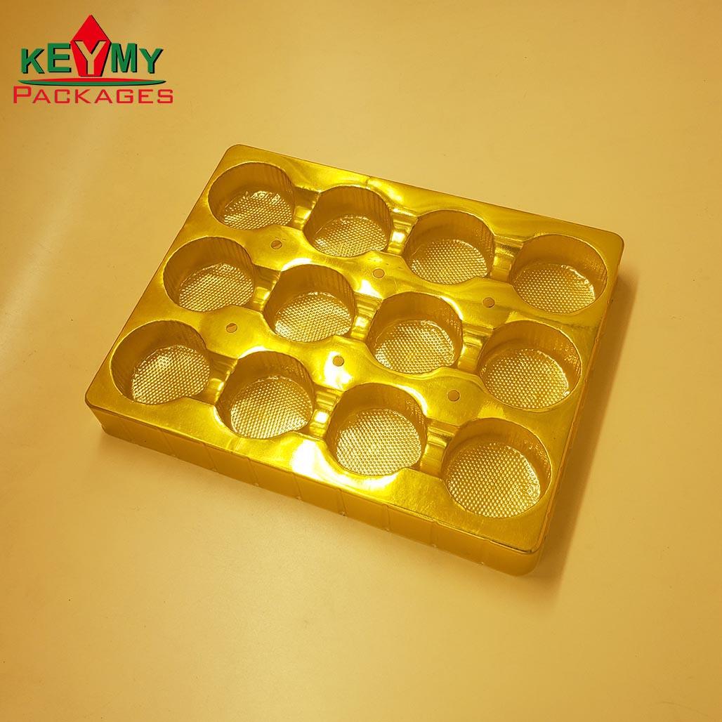 Блистерные подносы для шоколада по заводской цене, золотой поднос для шоколада от завода, сертифицированного ISO