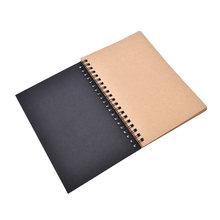 50 листов пустой альбом для рисования граффити Рисование эскиз книга крафт спиральная тетрадь офисные школьные принадлежности(Китай)