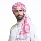 Alibaba factory vintage woven pattern keffiyeh muslim arabic windproof desert wrap shawl shemagh hijab square man polyest scarfs
