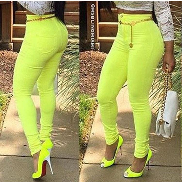 Venta Al Por Mayor Nuevos Pantalones Vaqueros De Moda Baratos Para Mujer Pantalones Ajustados Estampados De Color Caramelo 2017 Buy Sexy Lady Jeans Ladies Jeans Candy Color Pant Product On Alibaba Com