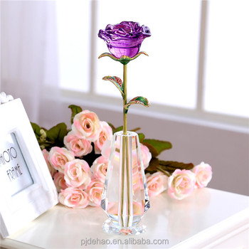 Nice K9 Engraved Crystal Glass Rose Cheap Wedding Return Gift Items