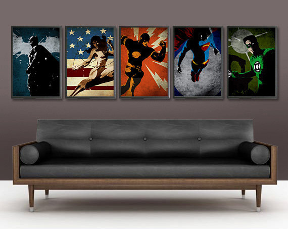 5 Pieces/set Handmade Oil Painting On Canvas Wall Art Home