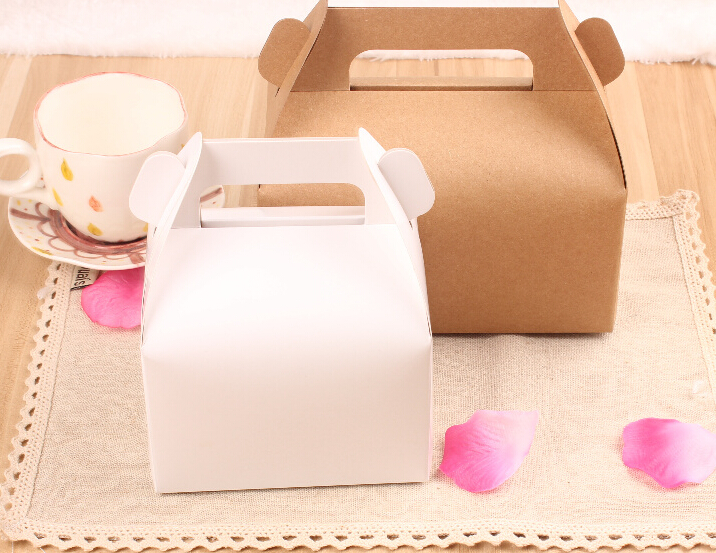 Diy Wedding Gift Box: Joy Retro Kraft Paper Box With Handle,DIY Wedding Gift