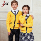 Custom make knit school cardigan kids school uniform sweater design plus size pure color teacher cardigan uniforms