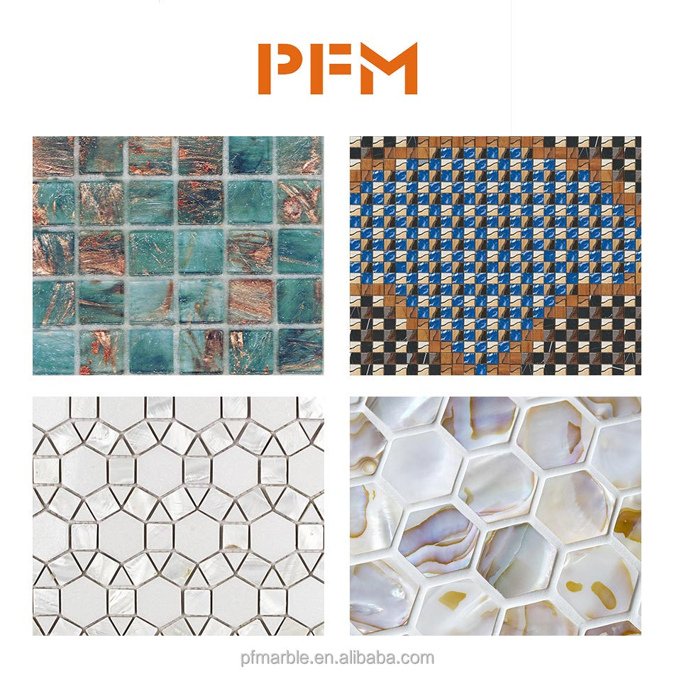 Diffe Types Wall Mosaic Tiles