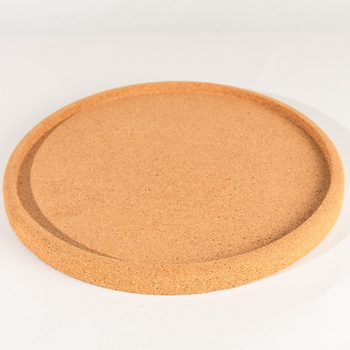 "11.75"" RD RECYCLED CORK TRAY FOR FRUIT ,SNACKS OR COFFEE"