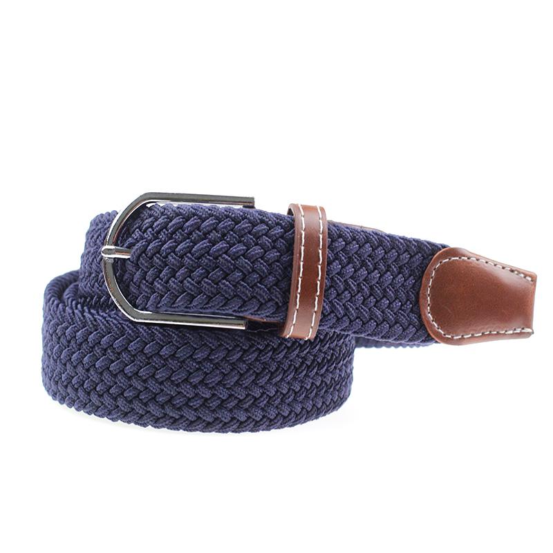 Лидер продаж, низкая цена, модные мужские тканые эластичные ремни на заказ, тканевый плетеный ремень для мужчин