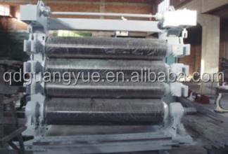 four roll rubber calender machine / rubber conveyor belt calendering line