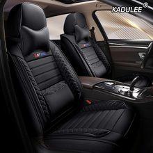 KADULEE кожаный чехол автокресла для mitsubishi pajero 4 2 sport outlander xl asx аксессуары lancer Чехлы для сидения автомобиля авто(Китай)
