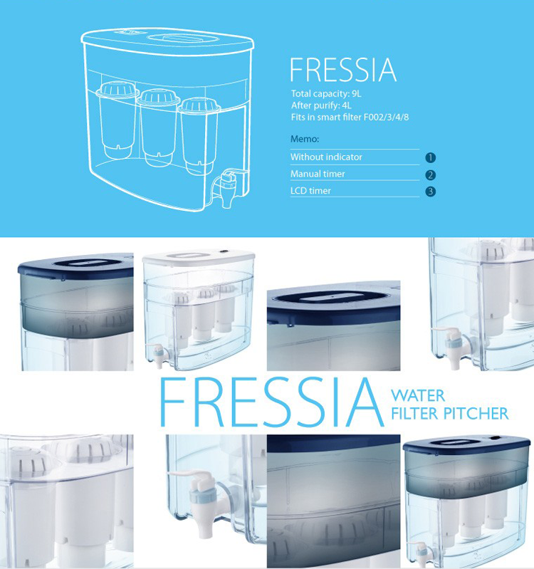 High quality home used 9L drinking water purifier tank with filter