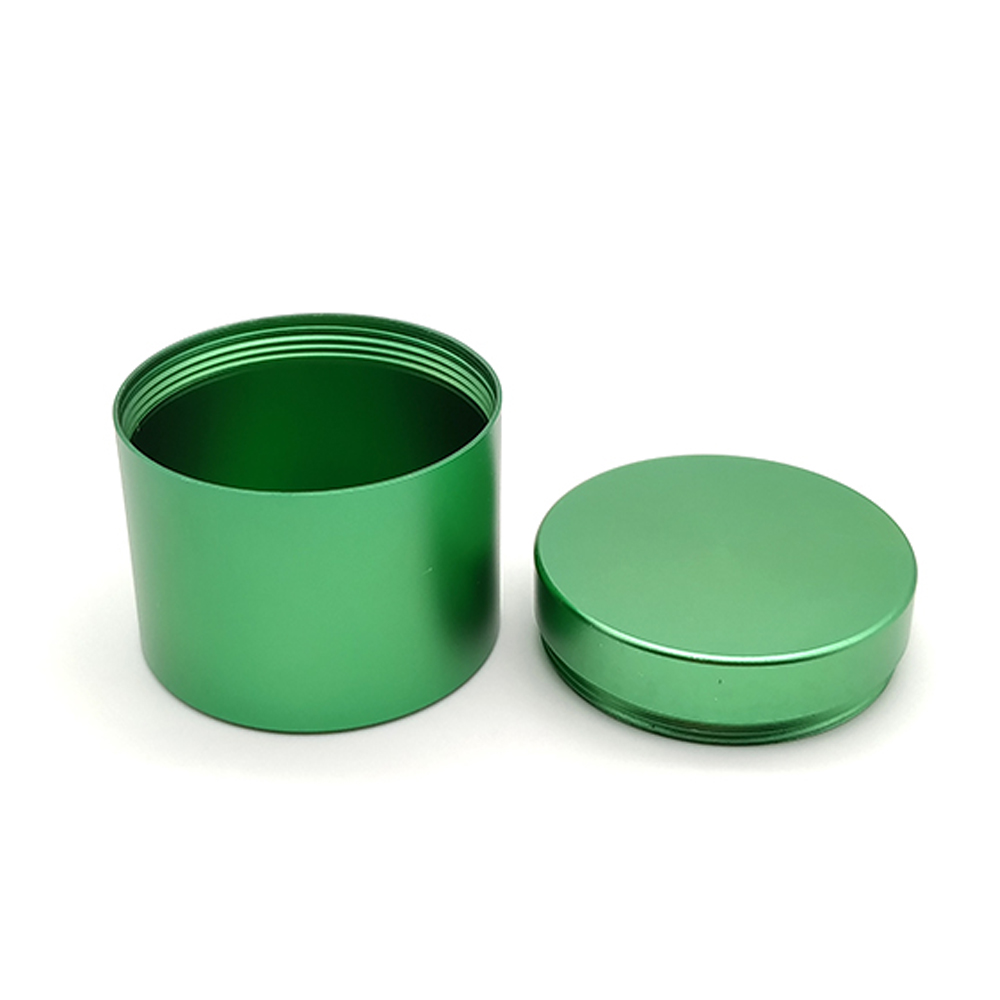 Small mini tall round metal storage tea package tin box can container screw with lid manufacturer