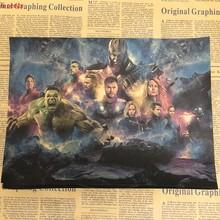 Manway кино постер союз Мстителей 4 крафт-бумага постер Ретро картины для украшения стен бумажный постер настенная бумага фрески(Китай)
