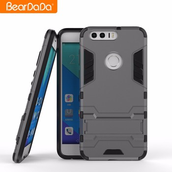 TPU PC Kickstand mobile phone case back cover for huawei honor 8 7 6 6x 4x 5a 4c 3c
