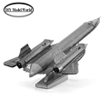 Free shipping DIY Toys Blackbird aircraft model 3D puzzle DIY metalic jigsaw laser cutting model kits