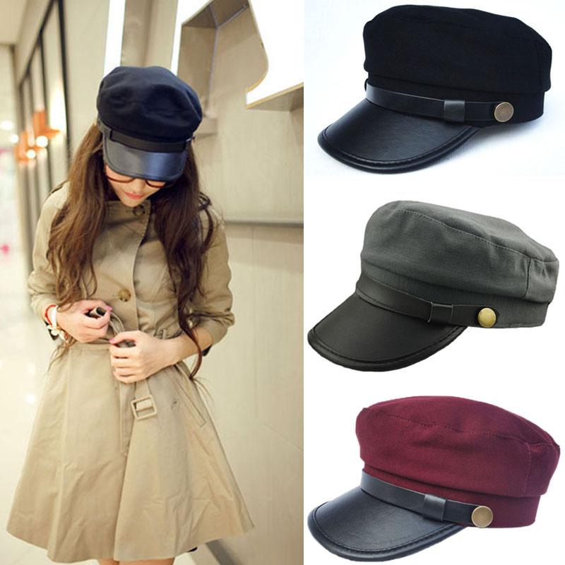 5beee79725e Wholesale 2015 Vintage Style Unisex Men Women Caps Leather Buckle ...