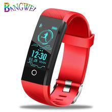 BANGWEI, новинка 2019, смарт-браслет, трекер сердечного ритма, артериального давления, кислорода, фитнеса, wrisband IP68, водонепроницаемые Смарт-часы д...(China)