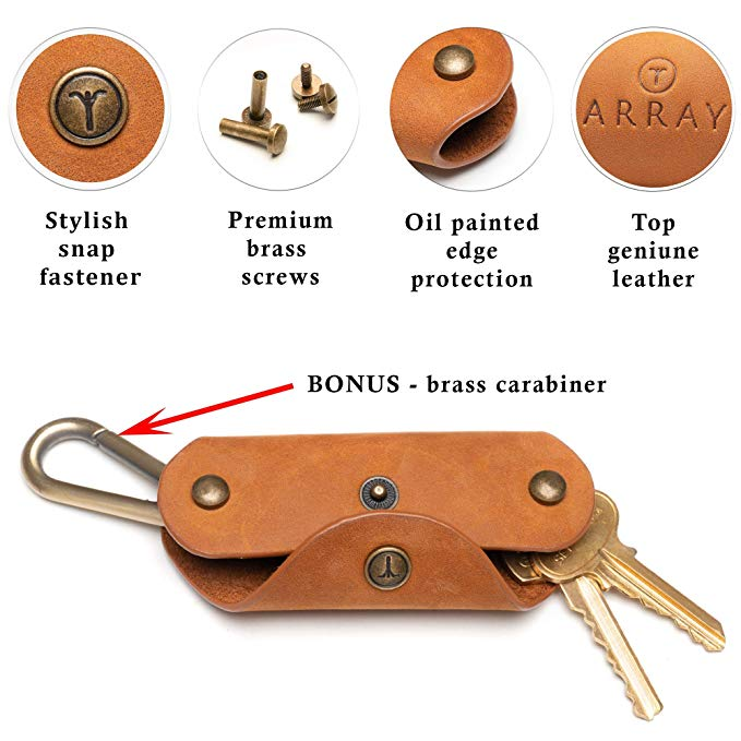 High Quality Smart Keychain Custom Leather Key Holder Organizer Cases With Pure Copper Carabiner High Quality Smart Keychain Custom Leather Key Holder Organizer Cases with Pure Copper Carabiner