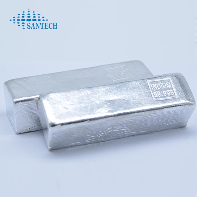 99.995%, 99.999%, 99.9999% Indium metal ingots