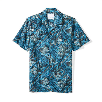 Wholesale Tropical Mens T Shirt Standard Fit 100% Cotton Hawaiian Shirt Machine Wash Tumble Dry Hip Hop T-Shirt Men