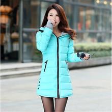 Wadded Jacket Female 2016 New Women's Winter Jacket Down Cotton Jacket Slim Parkas Ladies Coat Plus Size M-XXXL C1263