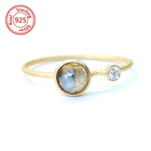 sterling silver rings for women Rose Cut Labradorite Ring semi-precious stone ring
