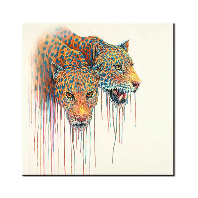 Abstract Canvas Oil Painting Ideas Kids Handmade Decoration Animal Wall Art Decor Buy Decorations Product On Alibaba Com