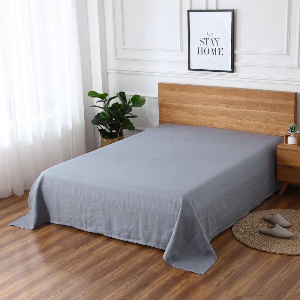 1 шт. 100% чистая индивидуальная многоцветная льняная плоская простыня, постельное белье, льняные простыни